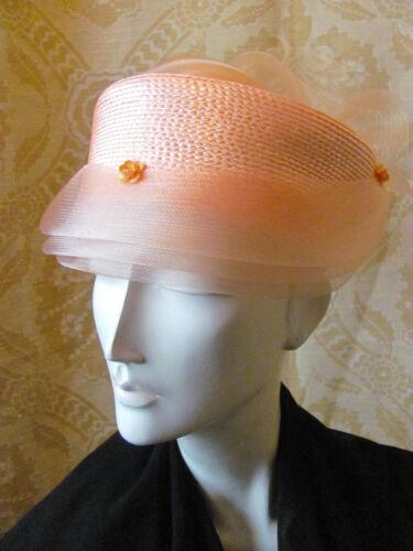 PATOU VELVET Vintage Classic Style Orange Hat Flow