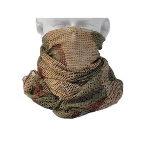 "Outdoor Tactical Mesh Scarf Wrap Mask Shemagh Sniper Veil 68/""x33/"" Camo Khaki OD"