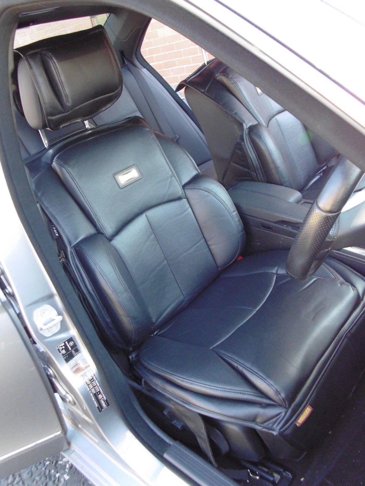 I Sitzbezüge passend für Mitsubishi Pajero Auto Luxus Wasserdicht grau,