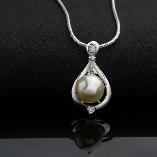 women trendy natural freshwater pearl pendant necklace jewelry Y