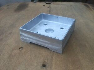 Details about Post Base Anchored 8x8 Heavy Cast Aluminum Made IN USA