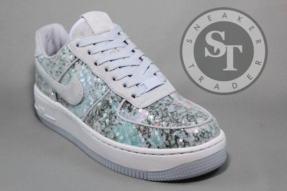 NIKE WOMEN'S W AIR FORCE ONE AF1 UPSTEP 35 917589-500 GLASS SLIPPER DS  Chaussures de sport pour hommes et femmes