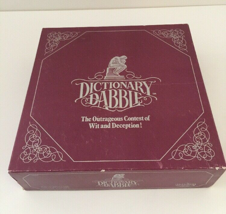 Vintage  Dictionary Dabble  Game by Alna - - - 1986 Edition - 100% Complete  290528