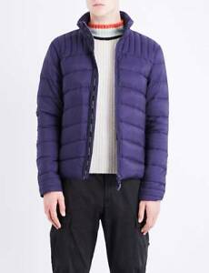 1550-CANADA-GOOSE-Mens-Blue-Slim-Fit-DOWN-PUFFER-JACKET-WINTER-COAT-Size-M