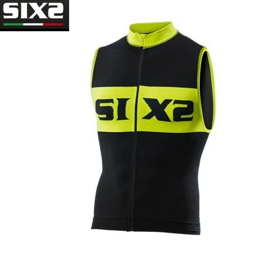Trikot Ärmellos Trägerhemd Fahrrad Jersey Jersey Fahrrad Fahrrad SIXS schwarz gelb BIKE2 luxus 8f0892