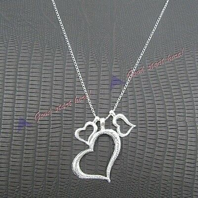 Chic Womens Love Heart Hollow Out Pendant Necklace Sweater Dress HOT SALE