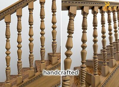 Interior Stair Banister And Spindles Designs Stair Parts 10 Pc Ebay