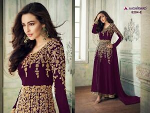 Indian Ethnic Anarkali Salwar Kameez Pakistani Bollywood Designer Suit