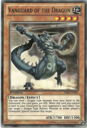 Vanguard of the Dragon YSKR-EN025 Common Yu-Gi-Oh Card Mint 1st Edition New