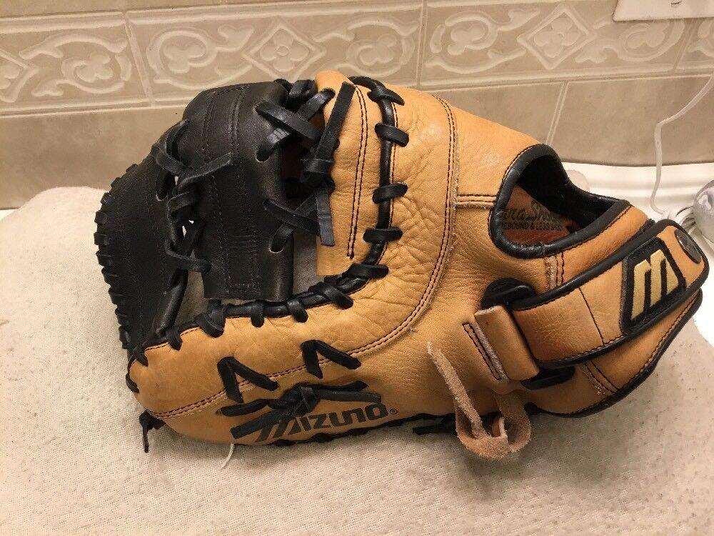 "Mizuno GXF-90 12.5"" Youth Baseball Softball Mitt First Base Mitt Softball Left Hand Throw f7d186"