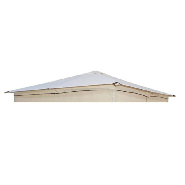 Pavillon Gartenpavillon Venezia 3x3m Stahlgestell wasserdichtes Dach Zelt ecru
