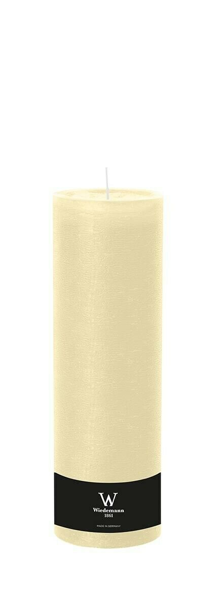 4x Kerzen 300x98mm Farbe Bisquit durchgefärbte Rustik Kerzen- Kerzen Wiedemann