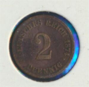 German-Empire-Jagerno-2-1874-e-very-fine-2-Pfennig-7849311