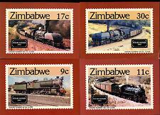 Zimbabwe 1985 Railway Locomotives Maximum Card Set #C39834