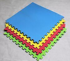 64 SQ FT Interlocking EVA Soft Foam Exercise Floor Mats Play Area Multicoloured