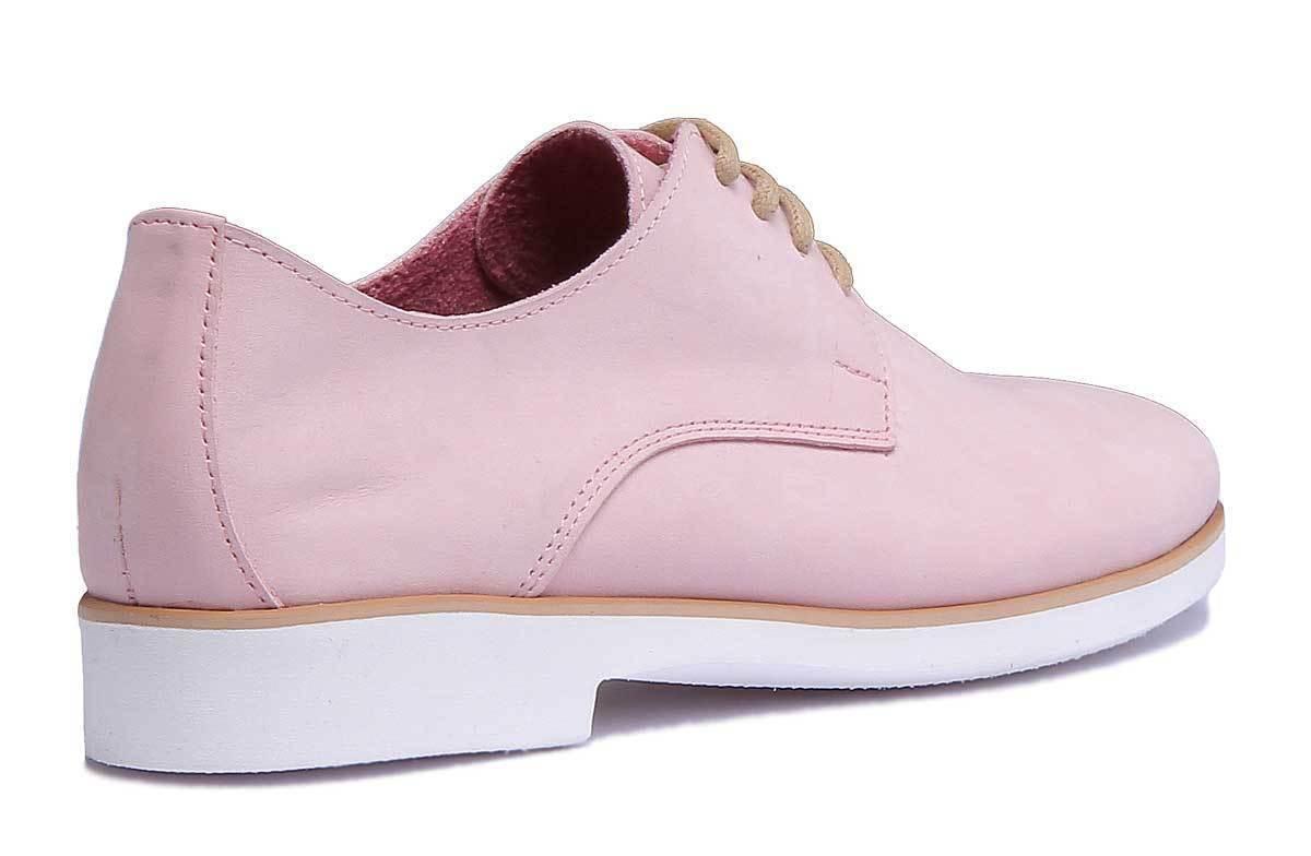 Justin Justin Justin Reece 4000 Womens Pink Nubuck Leather Shoes Size UK 3 - 8 b87fc5