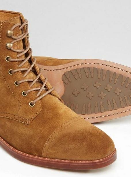 Ralph Lauren Men Lace Up Boot In Tan UK9