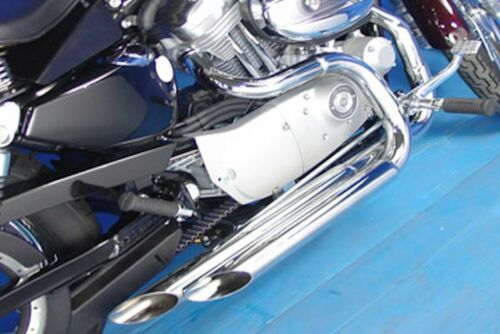 """2 1//4/"""" Stepped Header Performance Exhaust Drag Pipes 86-2006 Harley Sportster XL"""