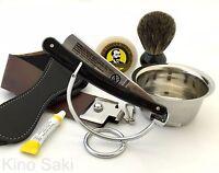 6 Pc Dovo Solingen Straight Razor, Badger Brush, Dovo Paste, Stand Shaving Set