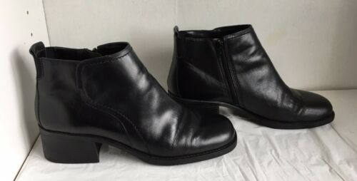 Womens Dockers Delaware Sz 9.5 Black Leather Ankle