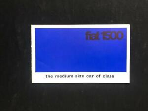 FIAT 1500 SALOON 1961 - 64 MOTOR CAR SALES BROCHURE UK MARKET