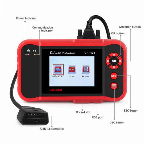 LAUNCH X431 CRP123 OBD2 Code Reader Creader Scanner Engine Transmission ABS SRS