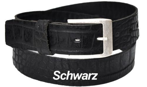 SCH  20925 3,5cm Kroko Optic Unisex Echt Ledergürtel Länge /& Farbe Wählbar