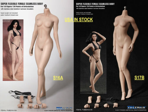 USA priorité TBLeague 1//6 étroit épaule Female Seamless Figure S16A S17B