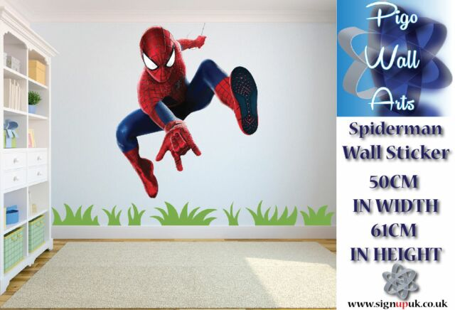 Spiderman Wall Sticker Super Hero Childrens bedroom wall decal large