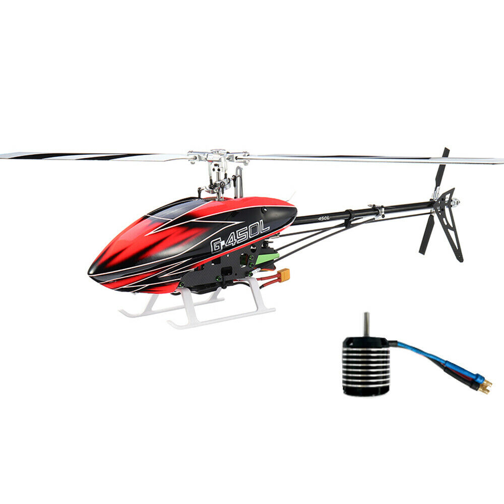 JCZK ASSAULT 450L DFC 6CH 3D Flybarless  RC Helicopter Kit With Brushless Motor  autentico online