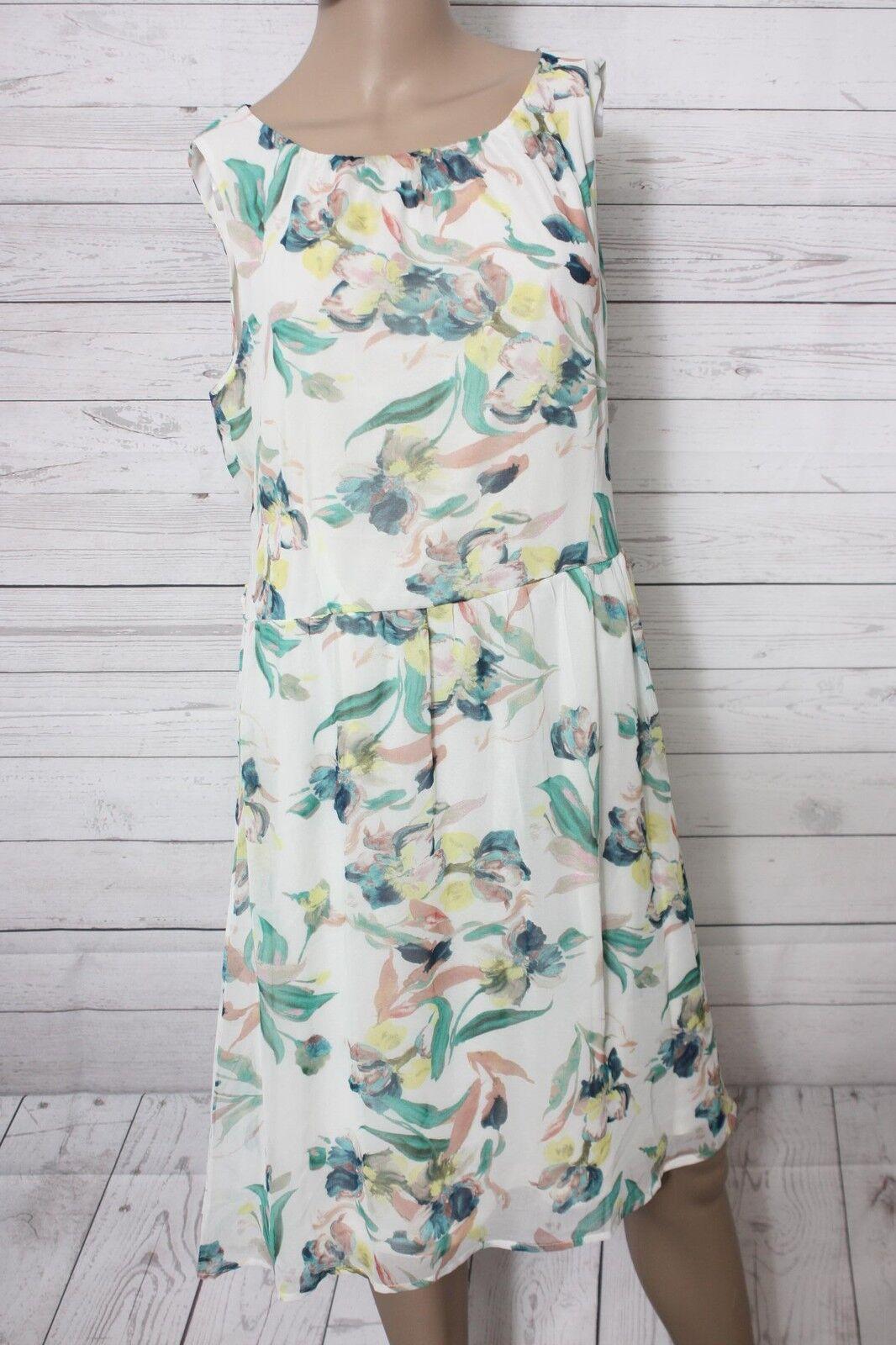 ESPRIT Damen Kleid Flowerprint Knielang Gr. 42