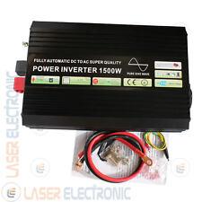 Power Inverter Onda Sinusoidale Pura Real Power 1500W Peak 3000W 12V DC > 220V