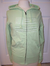 "Women's""POLO JEANS COMPANY""Green 100% Cotton Zip up Logo Hoodie Jacket  L. Cute!"