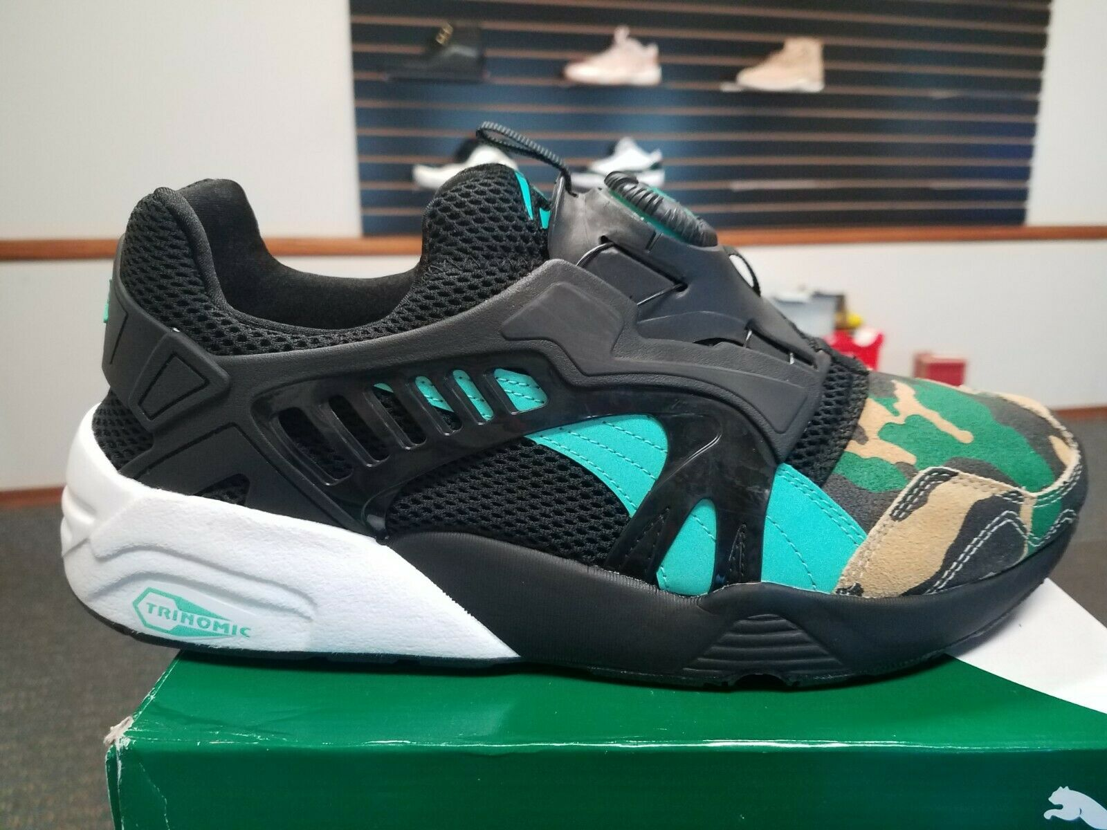 New in Box Puma Disc Blaze nuit Jungle x Atmos 363060-01 Atmos nuit Jungle