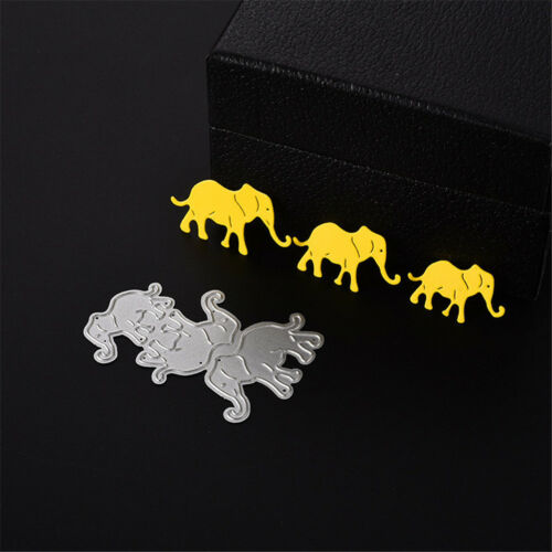 cute animals elephants scrapbooking Carbon Metal steel Stencil cutting die XJ