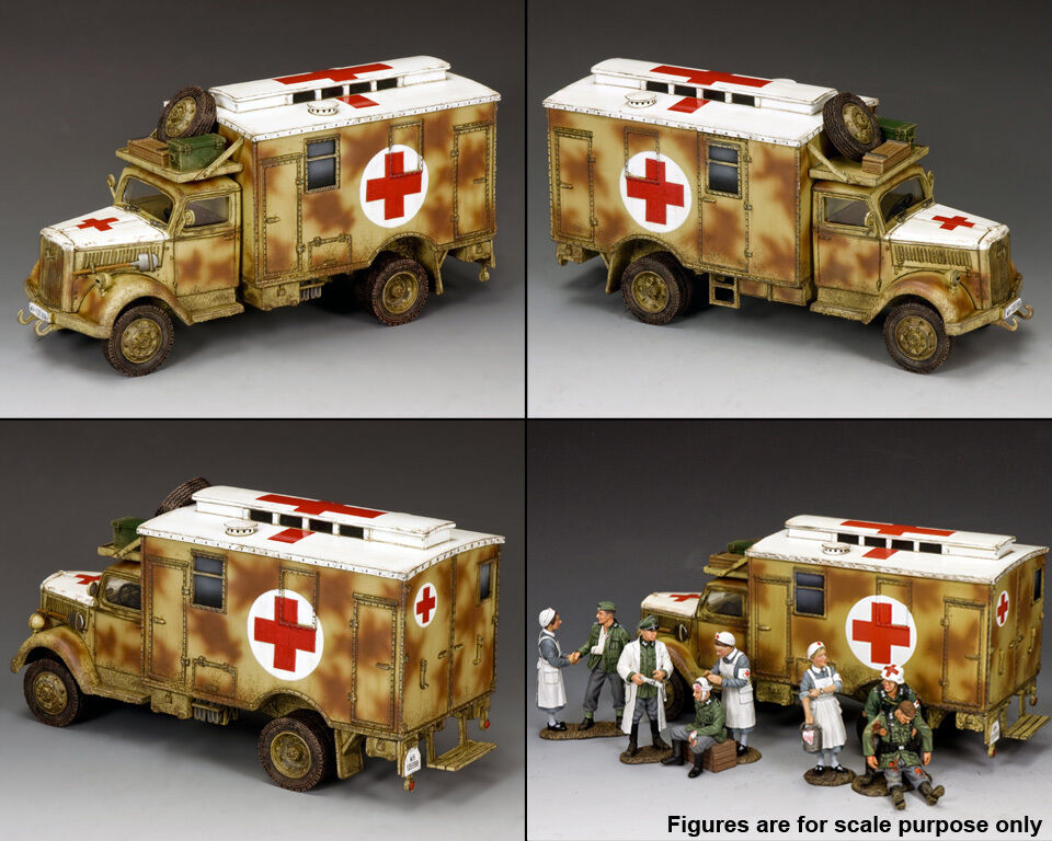 King and Country Opel Blitz Ambulance (Camouflage) WH004