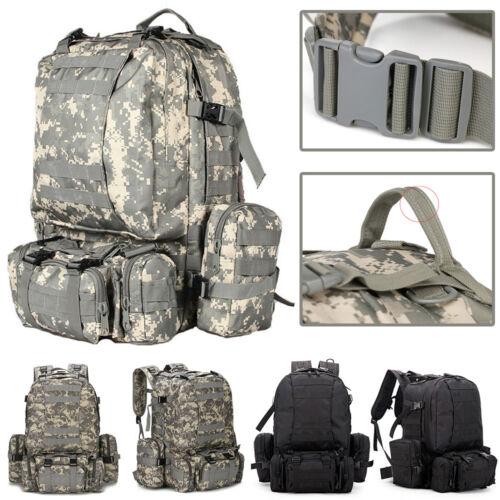 55L Shoulder Tactical Backpack Rucksacks Sport Travel Hiking Trekking Bag School