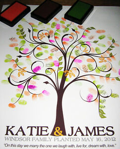 16x20-Thumbprint-Guest-Tree-SWIRLY-LOVE-TREE-Fingerprint-Guest-Book-Tree-gift