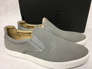 062d6c6c36f Details about UGG Australia Mateo Canvas Slip On Sneakers 1016748 Seal Grey  Gray Men's shoes