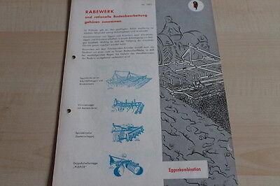 Lovely 144267 Rabewerk Eggenkombination Prospekt 197? Sales Brochures Manuals & Literature