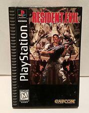 Resident Evil Long Box - PS1 PlayStation 1 && PS2  - No Manual