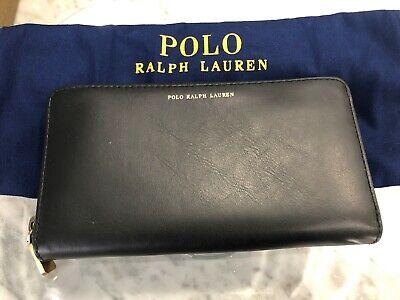 Polo Ralph Lauren Italian Leather Continental ZA Clutch Wallet Msrp 198 Purple