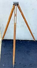 Vintage The A Lietz Co Surveying Transit Level Wood Tripod