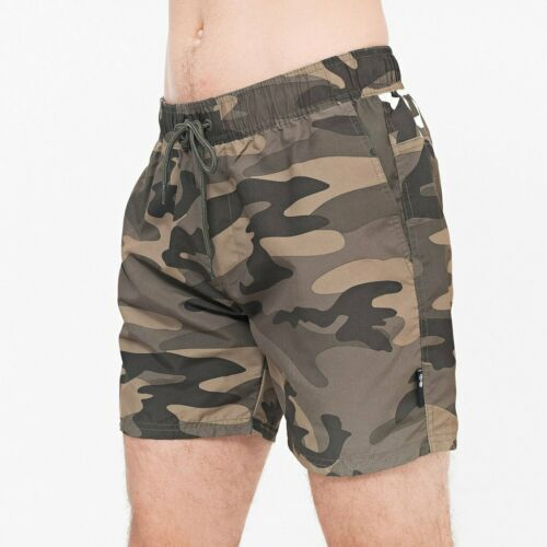 Crosshatch flofast Swim Pantaloncini Oliva CAMO BEACH SHORTS