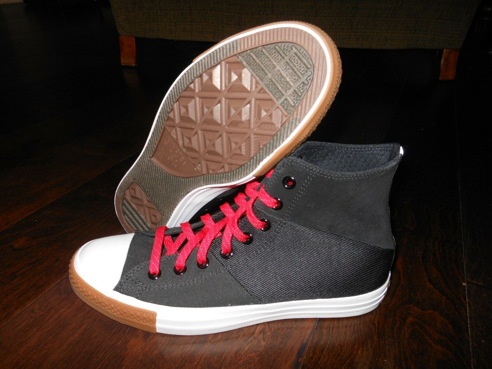 CONVERSE CT TRI PANEL HI 144652F Shoes Size 9.5 US 43 EUR Black/Red
