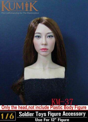 "KUMIK KM-37 1:6 Female Head Sculpt F 12/"" Women Action Figure Body  Accessory Toy"