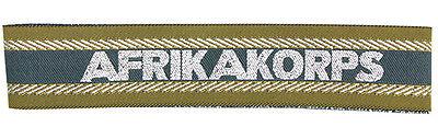 German Army AFRIKA KORPS UFFICIALI BEVO POLSINO TITOLO Economici WW2 Repro