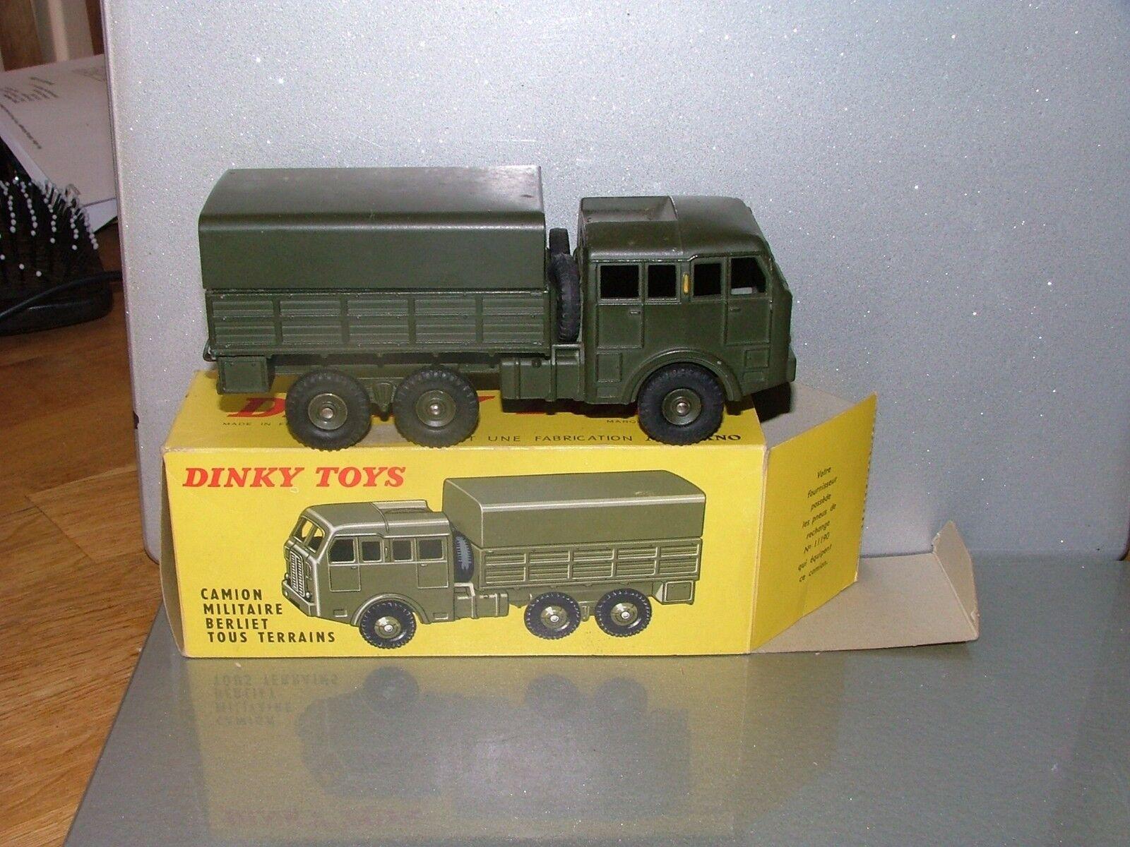 Dinky Francia Berliet Ejército Camión, Perfecto Estado En Caja Original N Menta
