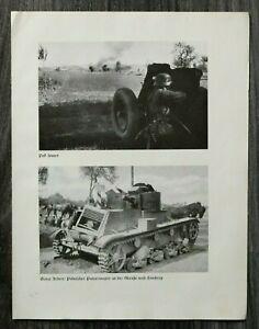 AQ-Blatt-2-WK-1940-Pak-feuert-Polnischer-Panzer-Polen-Soldaten-Marsch-Ort-WWII