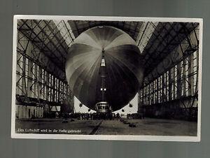 Mint RPPC Graf Zeppelin Inside Hangar in Halle Germany LZ 127 Postcard